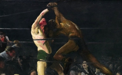 (detail) George Belllows, Both Members of This Club, 1909, oil on canvas, 45 1/4