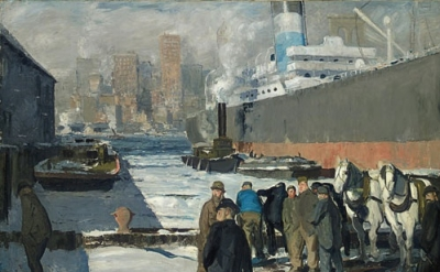 George Bellows, Men of the Docks, 1912 (Randolph College, Founded as Randoph-Mac