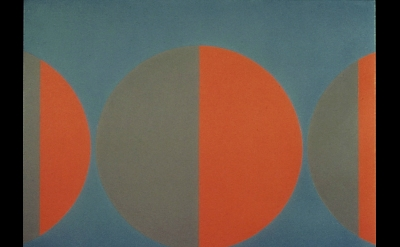 Siri Berg, Phases and Cycles, 1974, acrylic on canvas, 48x70 inches (courtesy of