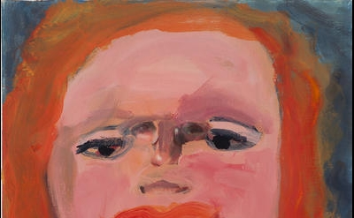 (detail) Margot Bergman, Gloria Jean, 2011, acrylic on found canvas, 20 x 16 inches (courtesy of Anton Kern Gallery)