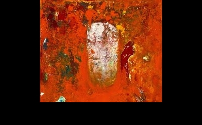 (detail) Jake Berthot, Untitled (Orange Painting), 1986, oil on canvas, 18 ¼ x 1
