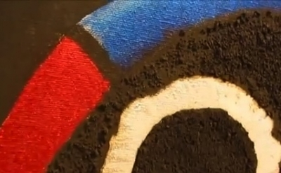 (detail) Video Capture close-up of an Untitled Forrest Bess painting (photo: Jam