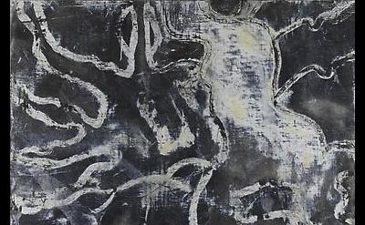 (detail) Bill Jensen, Black Sorrow (I), 2010-11, Oil on linen, 53 x 42 inches (c