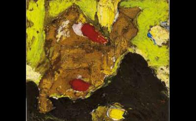 (detail) Ronald Bladen, Space Landscape, 1957-9, oil on masonite, 19 1/4 x 14 1/