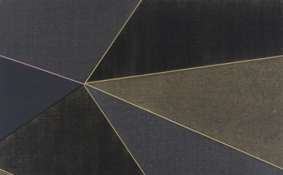 (detail) Katrina Blannin, Double Hexad-Black Grey Naples, 2013, acrylic on linen