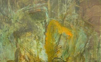 (detail) Hyman Bloom, Jew with Torah (unfinished w/ white chalk marks) courtesy