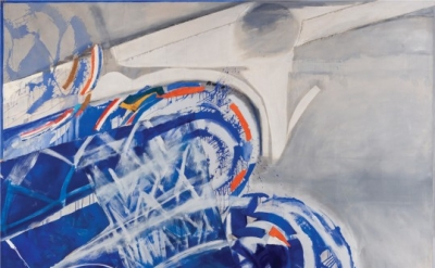 Sandra Blow, Swimmer, 1987, acrylic on canvas 274.4 x 365.8 cm (courtesy of the