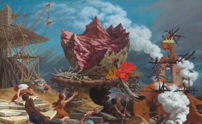 Peter Blume, The Rock, 1945-48, oil on canvas (Art Institute of Chicago © The Ed