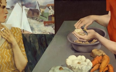 Peter Blume, Vegetable Dinner, 1927 (Smithsonian American Art Museum)