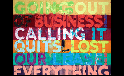 (detail) Mel Bochner, Going Out of Business, 2012 (Private collection, New York.