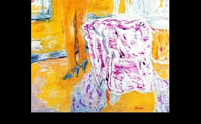 (detail) Pierre Bonnard, Large Yellow Nude, 1931, oil on canvas, 170 x 107.3 cm