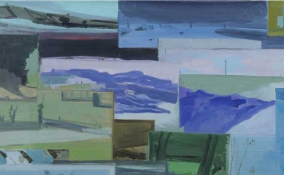 (detail) Robert Bordo, Day Trip, 2003, oil on linen, 21 × 35 inches (courtesy of