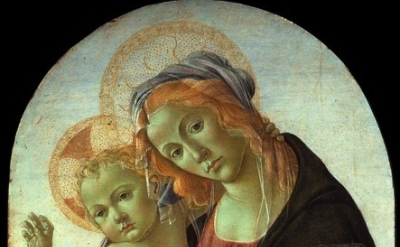 (detail) Sandro Botticelli, Madonna col Bambino, Collezione privata, Firenze (Co