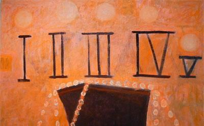 Katherine Bradford, S.O.S., 2012, Oil on canvas, 61 x 69 inches (courtesy of Edw