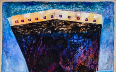 Katherine Bradford, Ship in Blue Harbor, 2011–12 (courtesy of the artist)