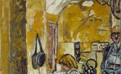 (detail) John Bratby, Kitchen Interior, 1955-6 (Copyright the estate of John Bra