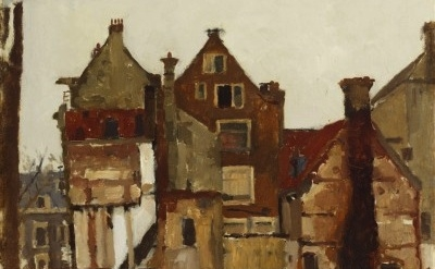 (detail) George Heidrik Breitner, Demolition in the Oudezijds Achterburgwal, 190