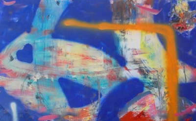 (detail) Valerie Brennan, Not Yet Titled, 2013, oil and spray paint on panel, 10