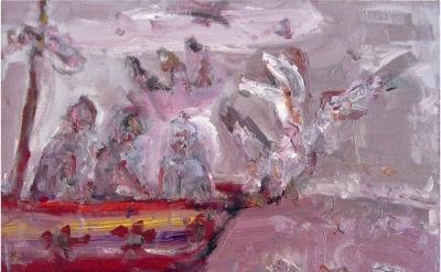 Farrell Brickhouse, The Sparrows, 2014, oil on canvas, 22 x 28 inches (courtesy