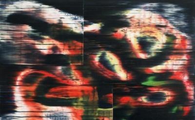 Jordan Broadworth, Sidelong, 2014, oil on mylar, 14 x 17 inches (courtesy of the