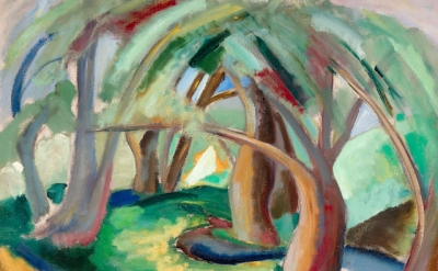 Quita Broadhead, Swamp Willows, c. 1939–40 (courtesy of the Woodmere Art Museum)