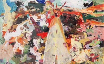 (detail) Painting by Cecily Brown (courtesy of Maccarone Gallery)