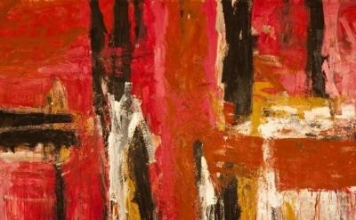 (detail) Fritz Bultman, Rosa Park, 1958, oil on canvas, 72 x 108 inches  (courte