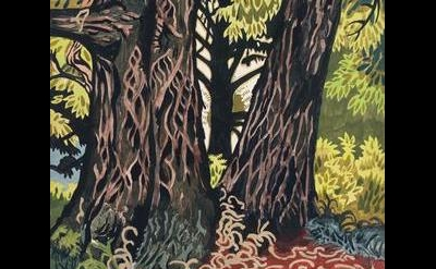 (detail) Charles Burchfield, Chestnut Trees, 1916, gouache, watercolor, and penc