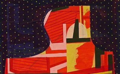 (detail) Tom Burckhardt, As of Yet Untitled, 2012, oil on cast plastic, 16 1/4 x