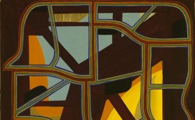 (detail) Tom Burckhardt, Economy Skeleton, 2012, oil on cast plastic, 40 x 32 in