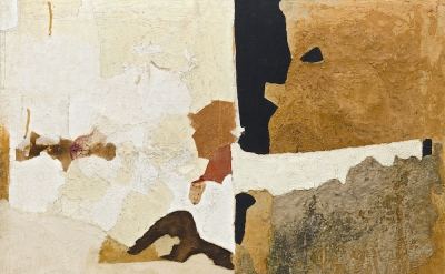 (detail) Alberto Burri, Muffa T., 1952 (Godwin-Ternbach Museum, Photo: Kristophe