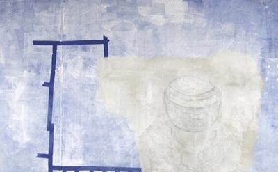 (detail) Sharon Butler, Silencer, 2013, pigment, binder, latex enamel, gesso, pe