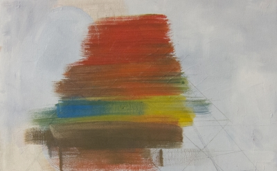 Sharon Butler, Goethe Color Triangle, 2015, oil on canvas, 16 x 20 inches (court