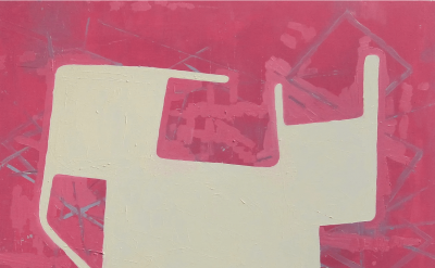 Sharon Butler, Pink, 2017, oil on canvas, 18 x 22 inches (courtesy of Theodore:Art)