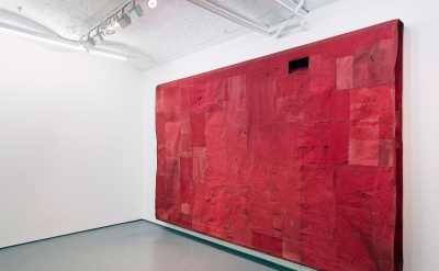 Simon Callery, Flat Painting Bodfari Cadmium Red Deep, 2015 (courtesy of the art