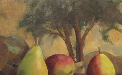 (detail) Linda Carey, Pears with Piero's Tree (courtesy of the artist and Bowery