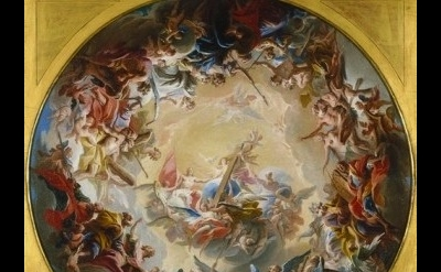 Carlo Innocenzo Carlone, Glorification of the Cross, about 1718, Indianapolis Mu