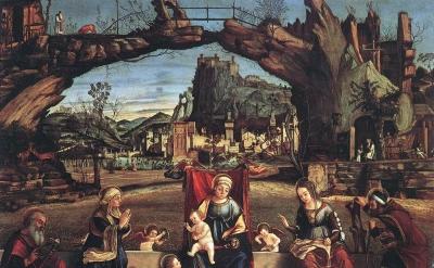 Vittore Carpaccio, Sacra Conversazione, c.1505, tempera on canvas, 126 x 92 cm (