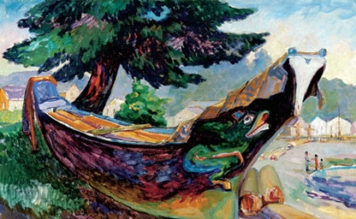 (detail) Emily Carr, Indian War Canoe (Alert Bay), 1912 (The Montreal Museum of