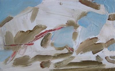 Simon Carter, Clouds over the Sea, 2013, acrylic on canvas, 25.5 x 30.5cm (court