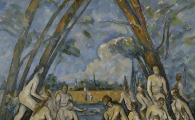 (detail) Paul Cézanne, The Large Bathers, 1906, oil on canvas, 82 7/8 x 98 3/4 i