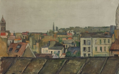 Paul Cézanne, The Rooftops of Paris, 1881-82. Oil on canvas, 59.7 x 73 cm, © Pri
