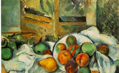 Paul Cézanne, Table, Napkin and Fruit, 1895-90 (The Barnes Foundation)