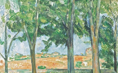 Paul Cézanne, The Chestnut Trees of Jas de Bouffan, c. 1885, oil on linen, 65 x