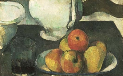 Paul Cézanne, Still Life with Apples and a Glass of Wine, 1877-79 (Philadelphia
