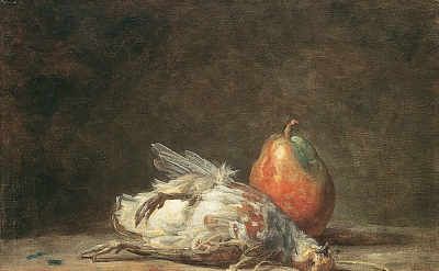 Jean-Baptiste-Siméon Chardin, Still Life with Partridge and Pear, ca. 1748 (imag