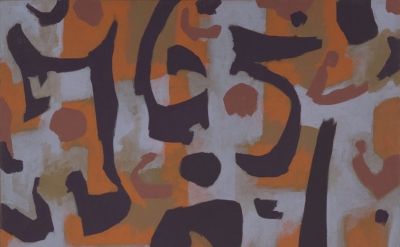 (detail) Charles Pollock, Chapala 3, 1956, oil and tempera on canvas, 121.9 x 91