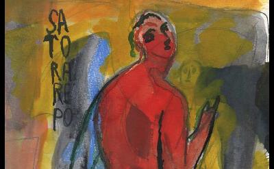 (detail) Sandro Chia, Arepo, 2014, 10.75 x 6.75 inches (courtesy of Steven Harve
