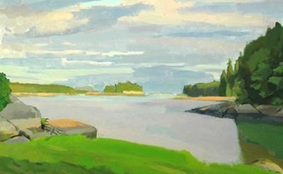 (detail) Christopher Chippendale, Towards Little Thrumcap, oil on canvas, 30 x 3