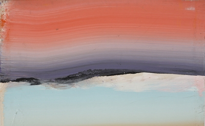 Ed Clark, Untitled, 2002, acrylic on canvas, 42 7/8 x 49 3/4 inches (courtesy of Tilton Gallery)